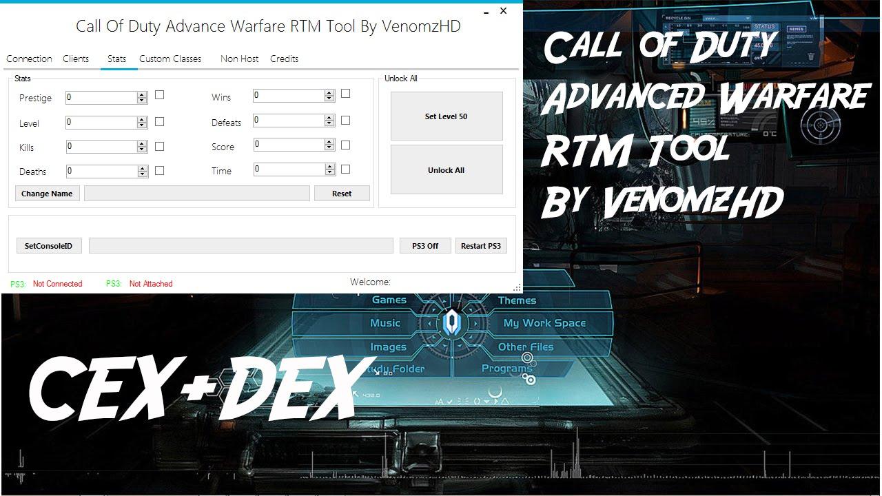 Call of Duty Advanced Warfare RTM Tool By VenomzHDs CEX+DEX