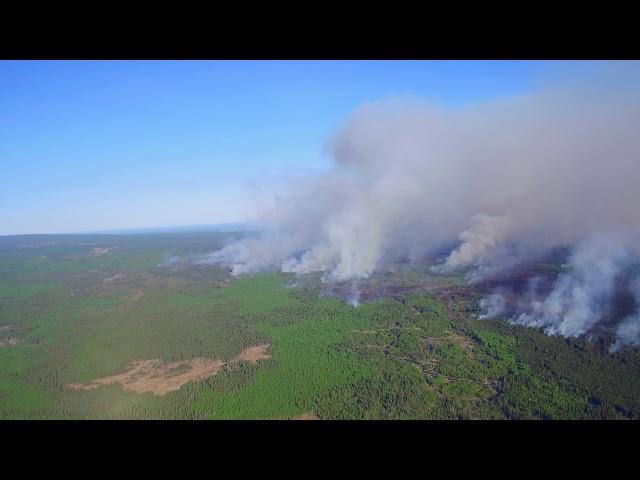Footage of the northwest Alberta wildfires.