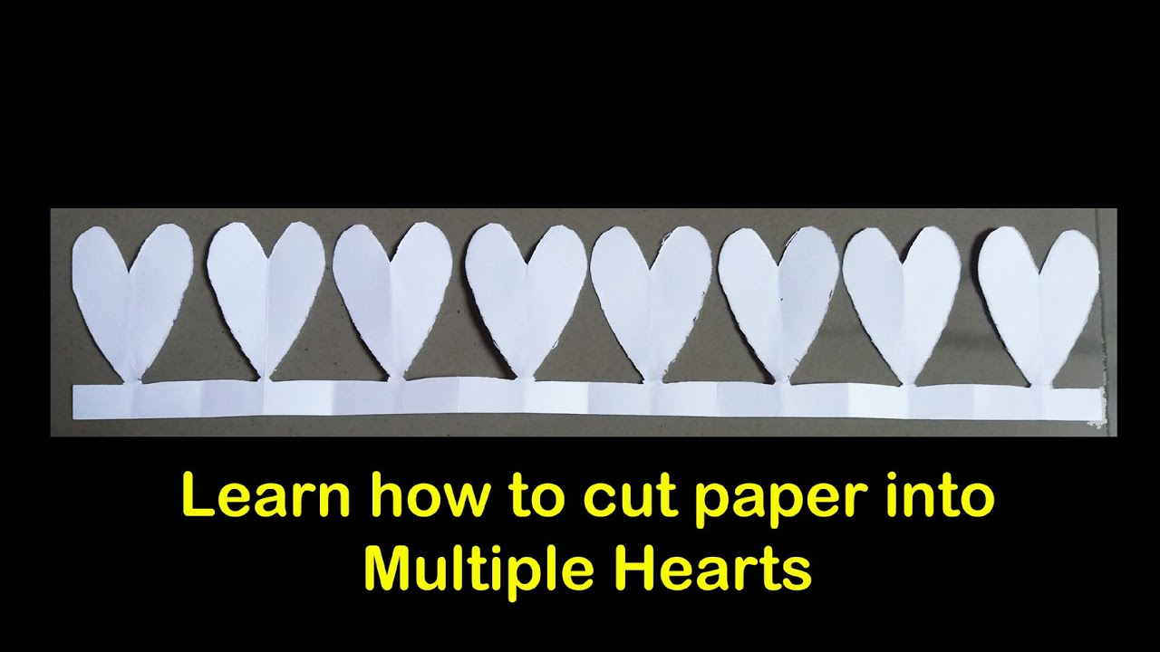 Papercraft paper cutting art designs - multiple hearts cutting