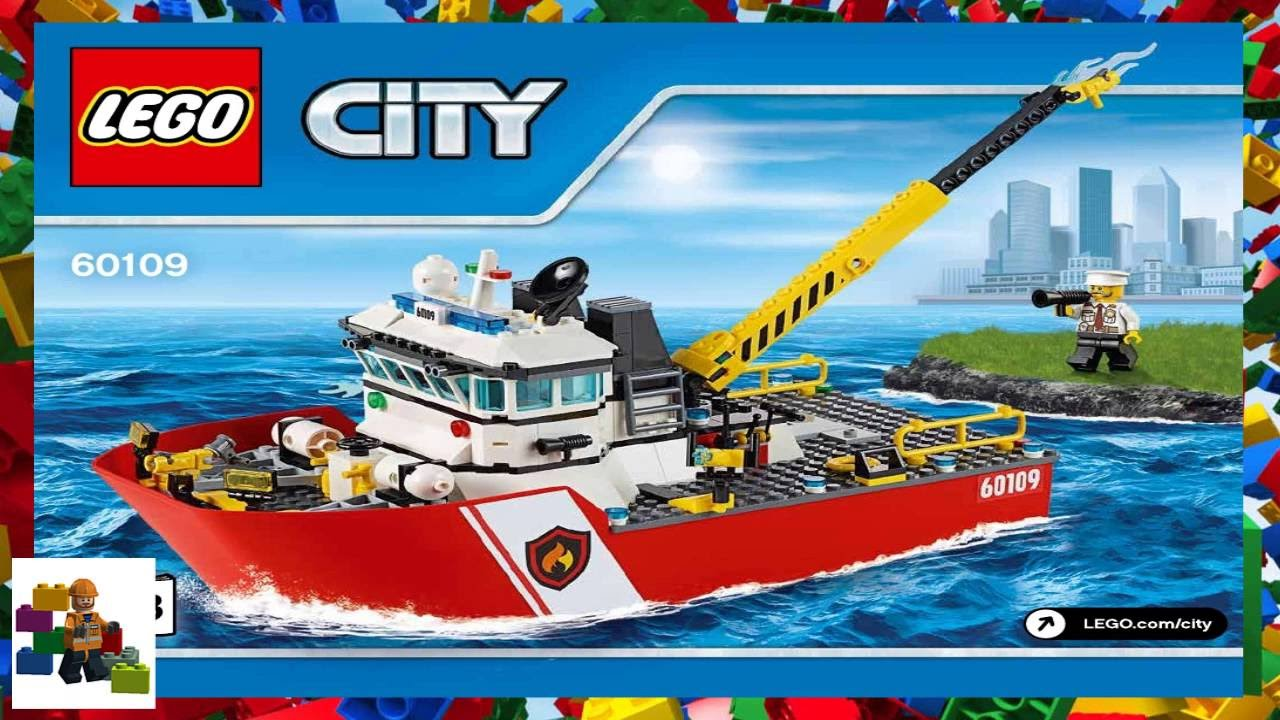 Lego Instructions City Fire 60109 Fire Boat Book 3 Youtube