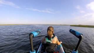 Ozark Trail 30lb trolling motor added to my Vibe Skipjack 120T kayak