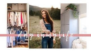 organize my closet, decorate, and get ready with me | VLOG