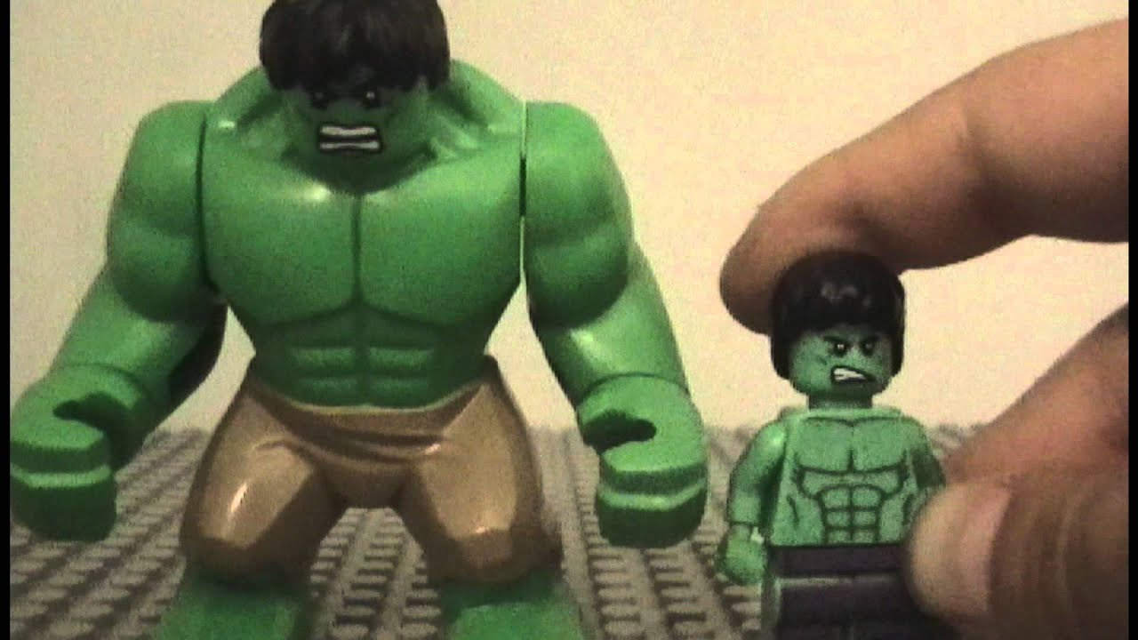 LEGO Marvel Super Heroes: Hulk Minifigure Comparison - YouTube