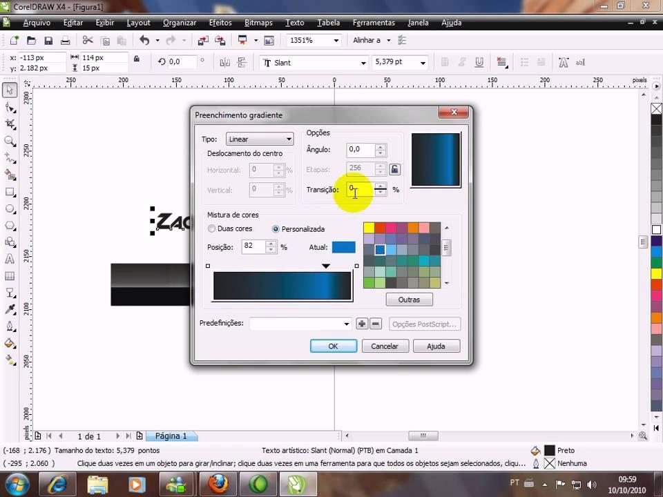 Tutorial Como fazer um Banner 180x40 no CorelDraw - YouTube
