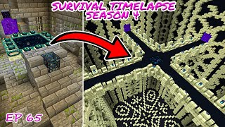 End Portal room Transformation | Minecraft Survival Timelapse Season 4 Episode 65