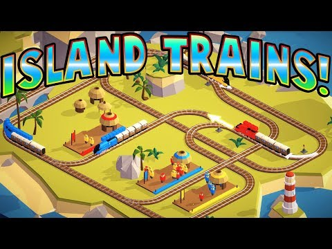 TOY TRAINS ON AN ISLAND! -  Conduct Deluxe! Gameplay - Delivering some Toy Passengers!
