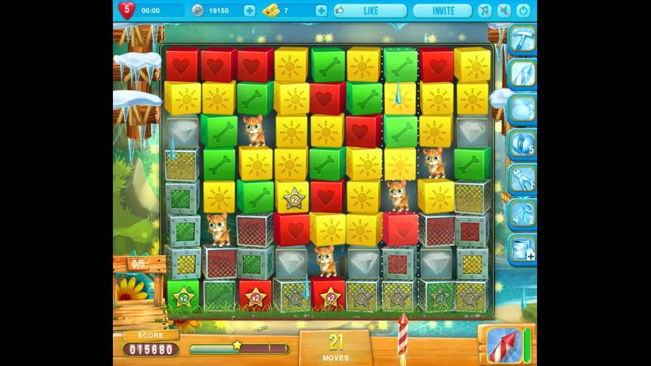Pet rescue saga pet island 4 level 4 youtube for Pet island level 4