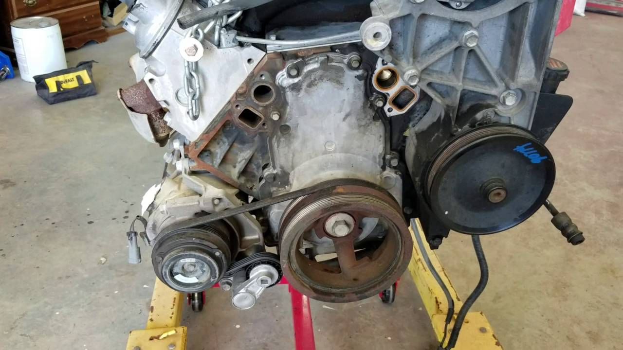 2010 Camaro 6.2L Water Pump in a 2002 5.3L - YouTube