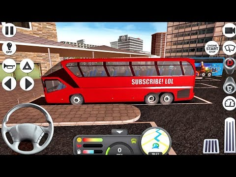 Coach Bus Simulator #32 - Bus Game Android IOS gameplay
