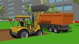 Excavator And Truck - Dump Truck And Road Machines - Street Vehicles