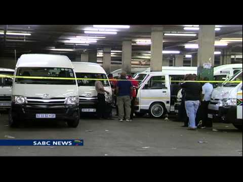 Law enforcement deployed to the Bree Taxi rank in Johannesbu