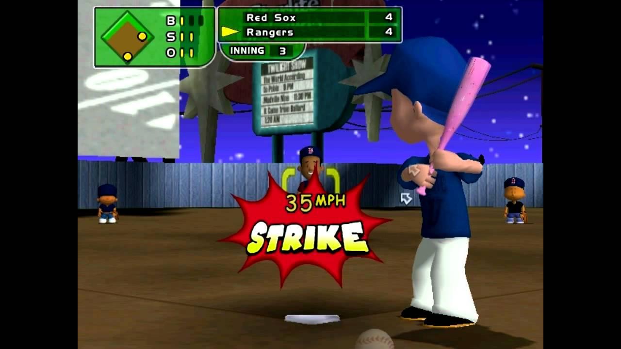 backyard baseball 2005 lets play vs rangers youtube