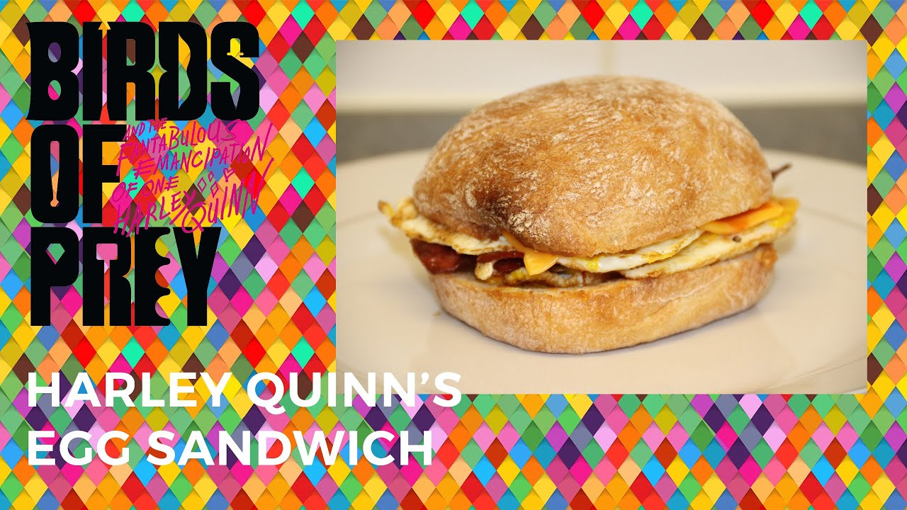 Birds Of Prey Harley Quinn Egg Sandwich Challenge Youtube