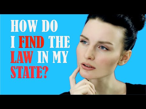 How Do I Find the Law in My State?
