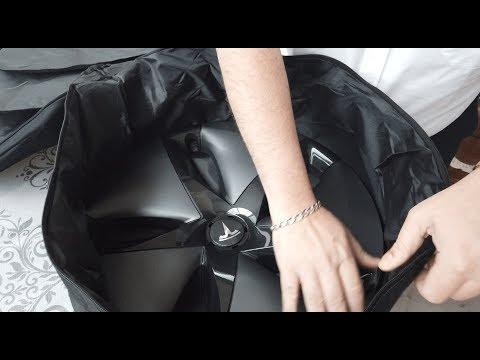 Présentation du sac de rangement des aero wheels pour tesla model 3 par Éléctron libre