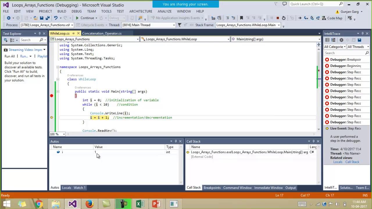 Selenium C# Tutorial - Loops,Arrays,Functions