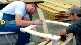 Solid Pine Adirondack Chair Kit Assembly