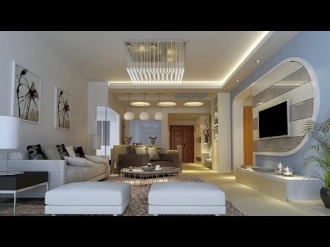 30 The Best Living Room Designs Modern TV Cabinet Wall Units Gypsum Ceiling For Living Room