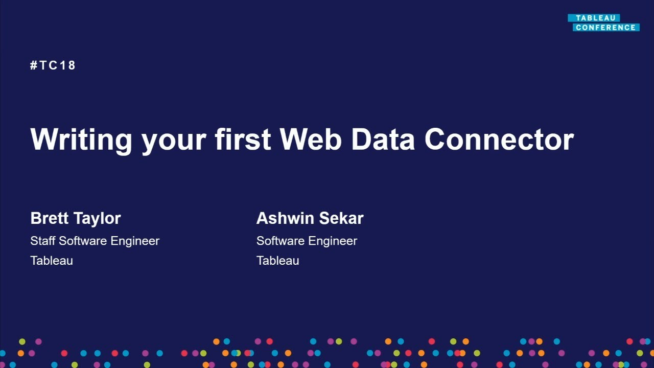 Write your first Web Data Connector