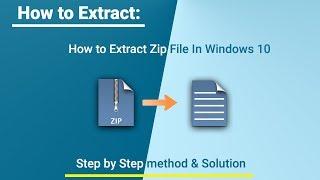 How to Extract ZIP File or Repair ZIP File using ZIP File Opener