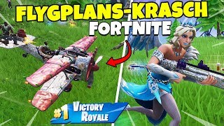 AIRPLANE CRASHES ON US in FORTNITE * FROZEN SKIN * Duo with Polski