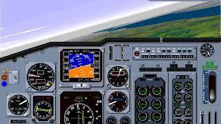 Microsoft Flight Simulator 98 | Lesson: ILS Approach Straight In: Boeing 737 |