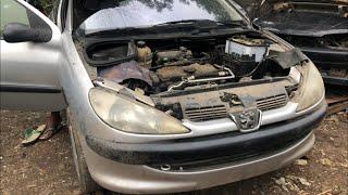 Indonesia junkyard car  - PEUGEOT 206 - rongsokan mobil terbesar