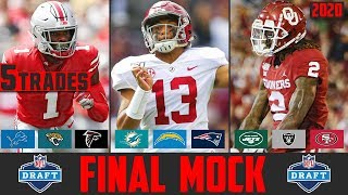 2020 NFL Mock Draft With TRADES | Final NFL Mock Draft