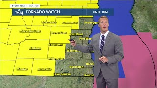 Tornado watch issued for some SE Wisconsin counties until 8 p.m.