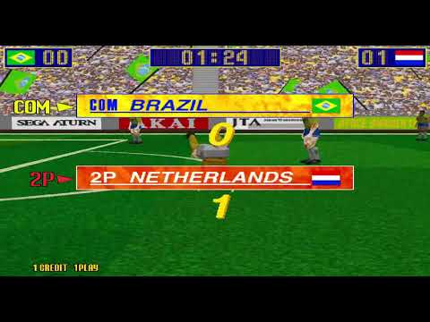 Virtua Striker Rev A Netherlands hardest level 1 credit