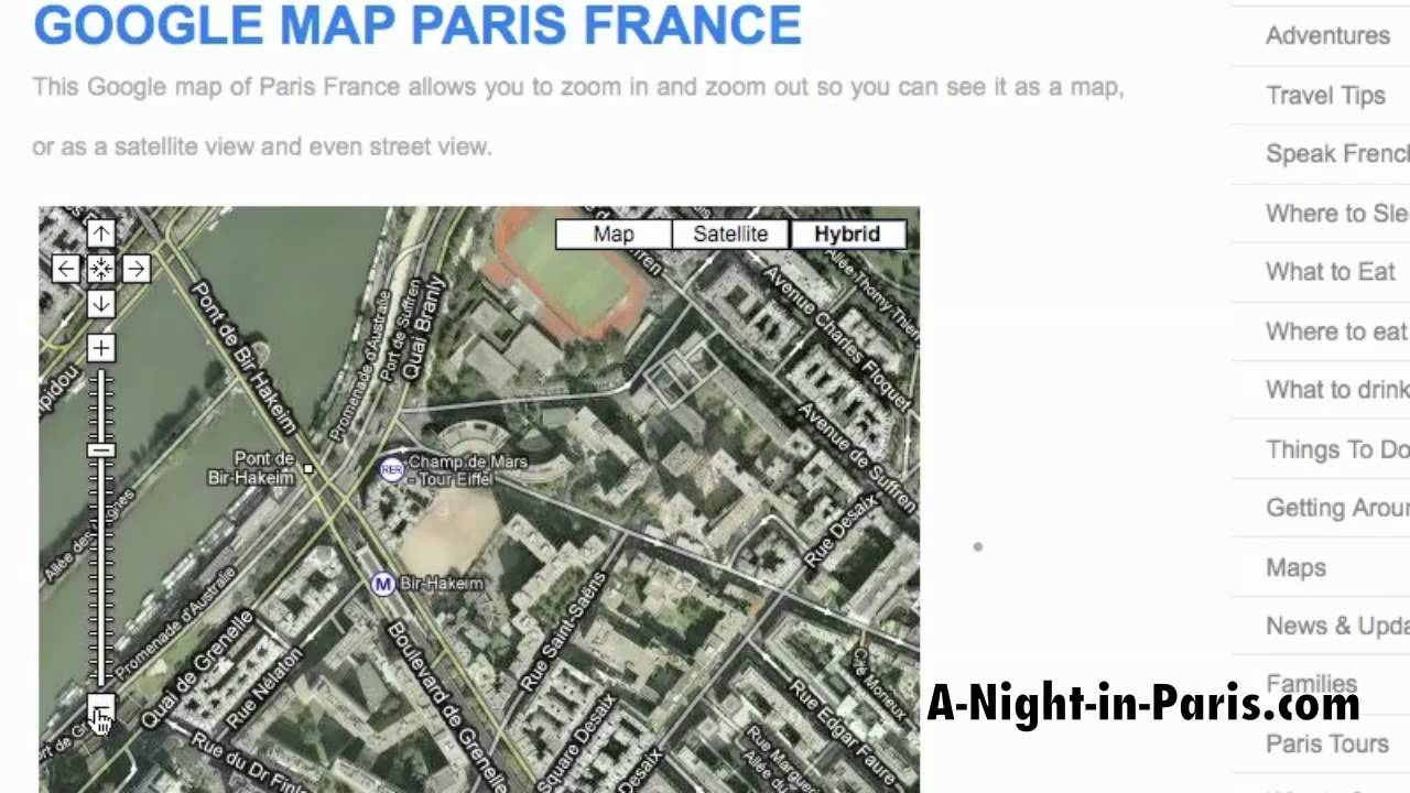 Google Map of Paris France by A-Night-in-Paris.com - YouTube