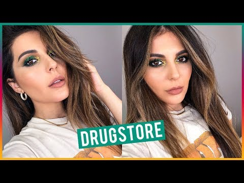 Fall Drugstore Makeup Tutorial | Green Smokey Eye