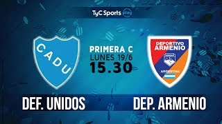 CA Defensores Unidos vs Deportivo Armenio full match