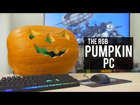 A gaming PC inside a PUMPKIN!