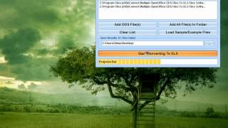 How To Use Convert Multiple OpenOffice ODS Files To XLS Files Software
