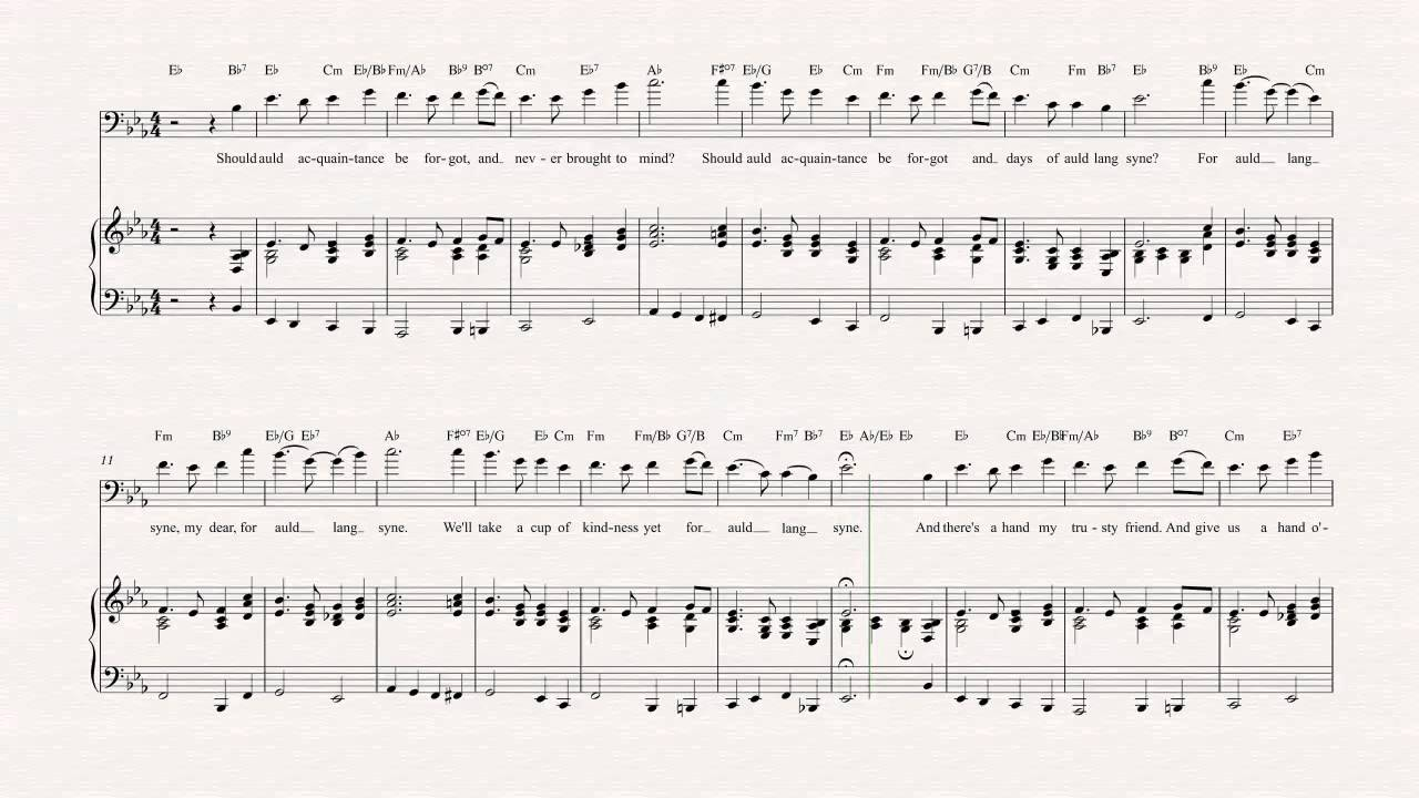 Trombone - Auld Lang Syne - Christmas Sheet Music, Chords, & Vocals ...