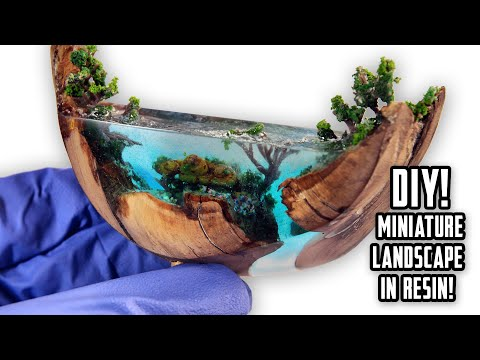 MINIATURE LANDSCAPE IN RESIN 🌊 Ocean z żywicy !  - How To Make Ocean From Resin! Epoxy Resin Art