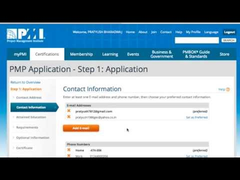 How To Fill Pmp Application In 10 Mins