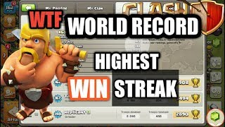 COC World record Highest war Win streak in clan wars 300+ win streak | Clash of clans