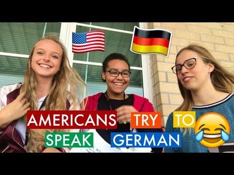 AMERICANS TRY TO SPEAK GERMAN CHALLENGE (English) //AUSLANDSJAHR USA 2018/19