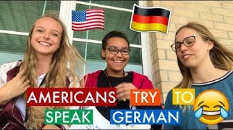 AMERICANS TRY TO SPEAK GERMAN CHALLENGE (English) //AUSLANDSJAHR USA 2018/19