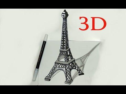 Cara Menggambar 3d Menara Eiffel Youtube