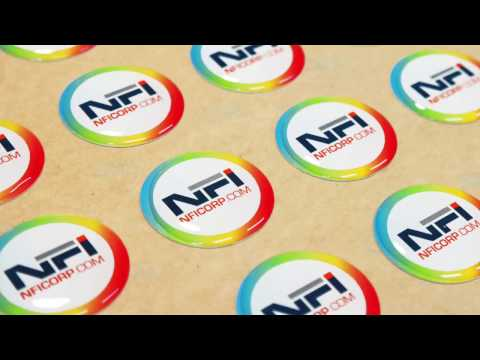Domed Labels & Stickers | NFI Corp | Nameplates for Industry
