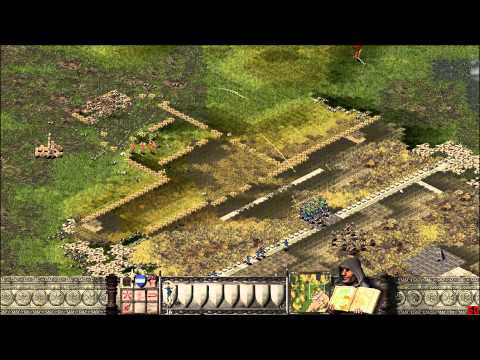 Let's Play Stronghold 5 (New Mic, Promotions, Spear-Dudes, Defending The Fort, Curtain Walls)