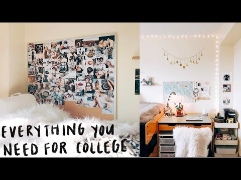 Repeat EVERYTHING YOU NEED IN COLLEGE // complete dorm