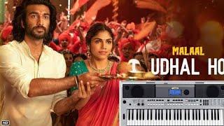 Udhal ho | Malaal | Adarsh shinde | on keyboard | TUTORIAL | Hindi bollywood latest song 2019 |