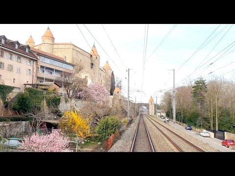 ★ 4K Tilt train Geneva - Zürich HB cab ride, speeds up to 200km/h [03.2020]