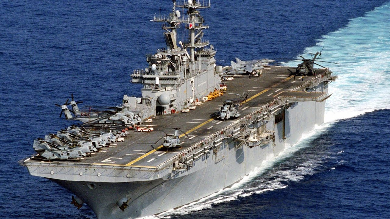 News • US Navy Amphibious Assault Ship • USS Kearsarge • Underway in Support of Large-Scale Exercise