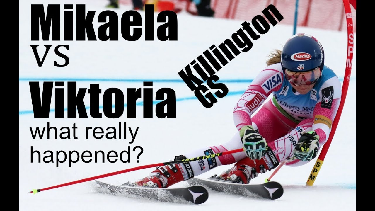 Mikaela Shiffrin vs Viktoria Rebensburg GS Killington 2017 Technical Analysis