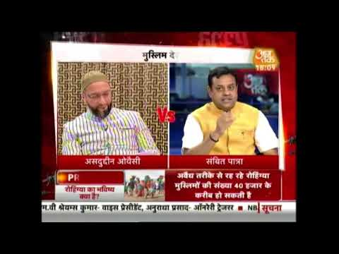 Halla Bol: Asaduddin Owaisi Debates With Sambit Patra Over Rohingya Issue| Exclusive